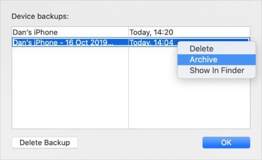 Cómo restaurar copias de seguridad antiguas y archivadas del iPhone desde iTunes o Finder