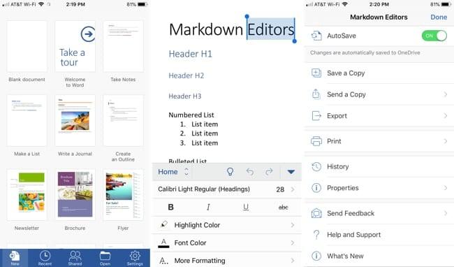 Las 5 mejores aplicaciones para el iPhone para la edición de documentos