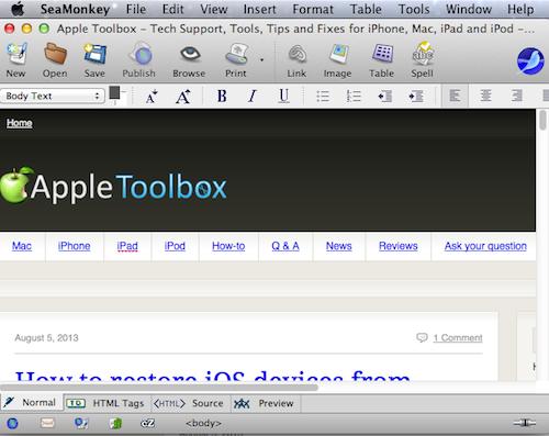 Los mejores editores gratuitos de HTML WYSIWYG para MacOS y Mac OS X