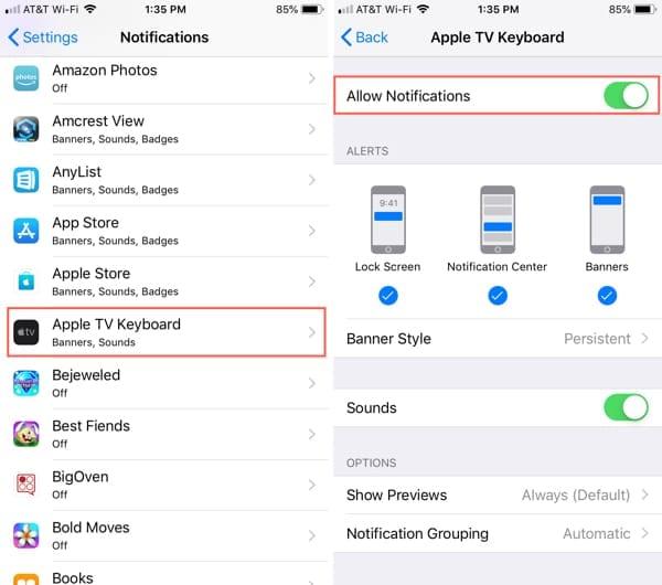 Cómo activar y desactivar el iPhone como teclado del Apple TV