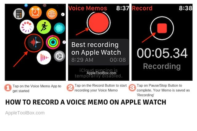 Cómo trabajar con Notas de voz en tu Apple Watch