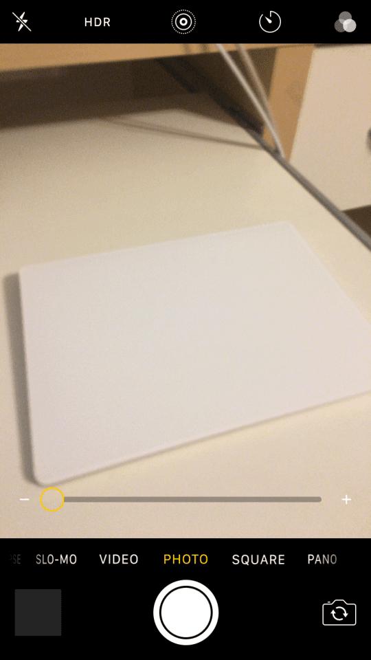 Todo en la aplicación de la cámara iOS 10