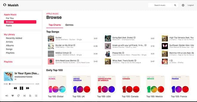 Cómo usar Musish para escuchar música de Apple en cualquier navegador de Internet