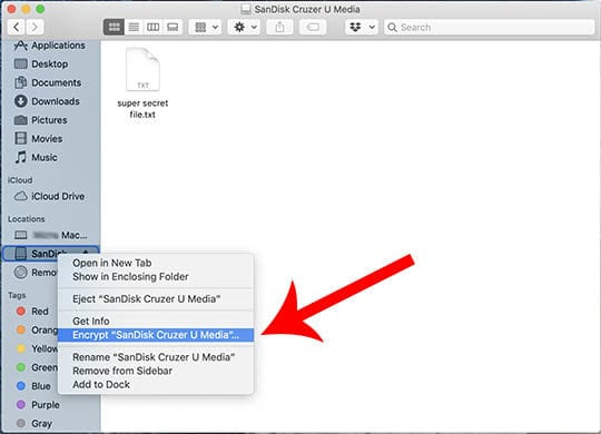 Cómo cifrar fácilmente las unidades USB en MacOS