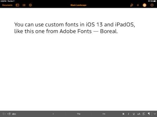 Empezando a usar fuentes personalizadas en iOS 13 y iPadOS